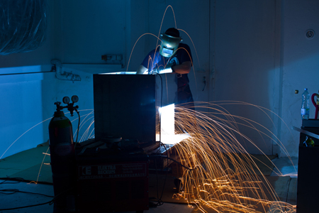 metalworking, more sparks flying