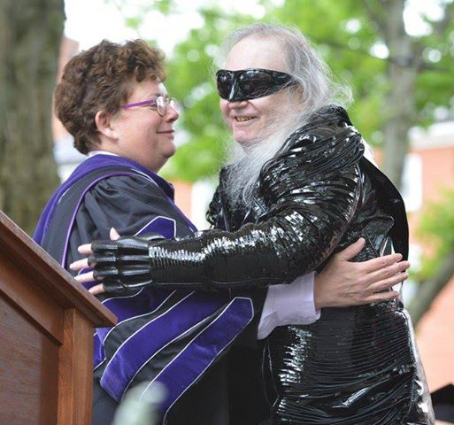 Jim with Amherst President 'Biddy' Martin