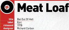 MEAT LOAF - title: Bat Out Of Hell - label: Epic - released 1978 - designer: Richard Corben