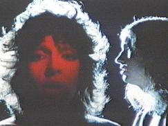 Karla DeVito (left, facing forward) and Jim Steinman (right, in profile)