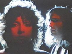 Karla DeVito (left, facing forward) and Jim Steinman (right, turning to face Karla)