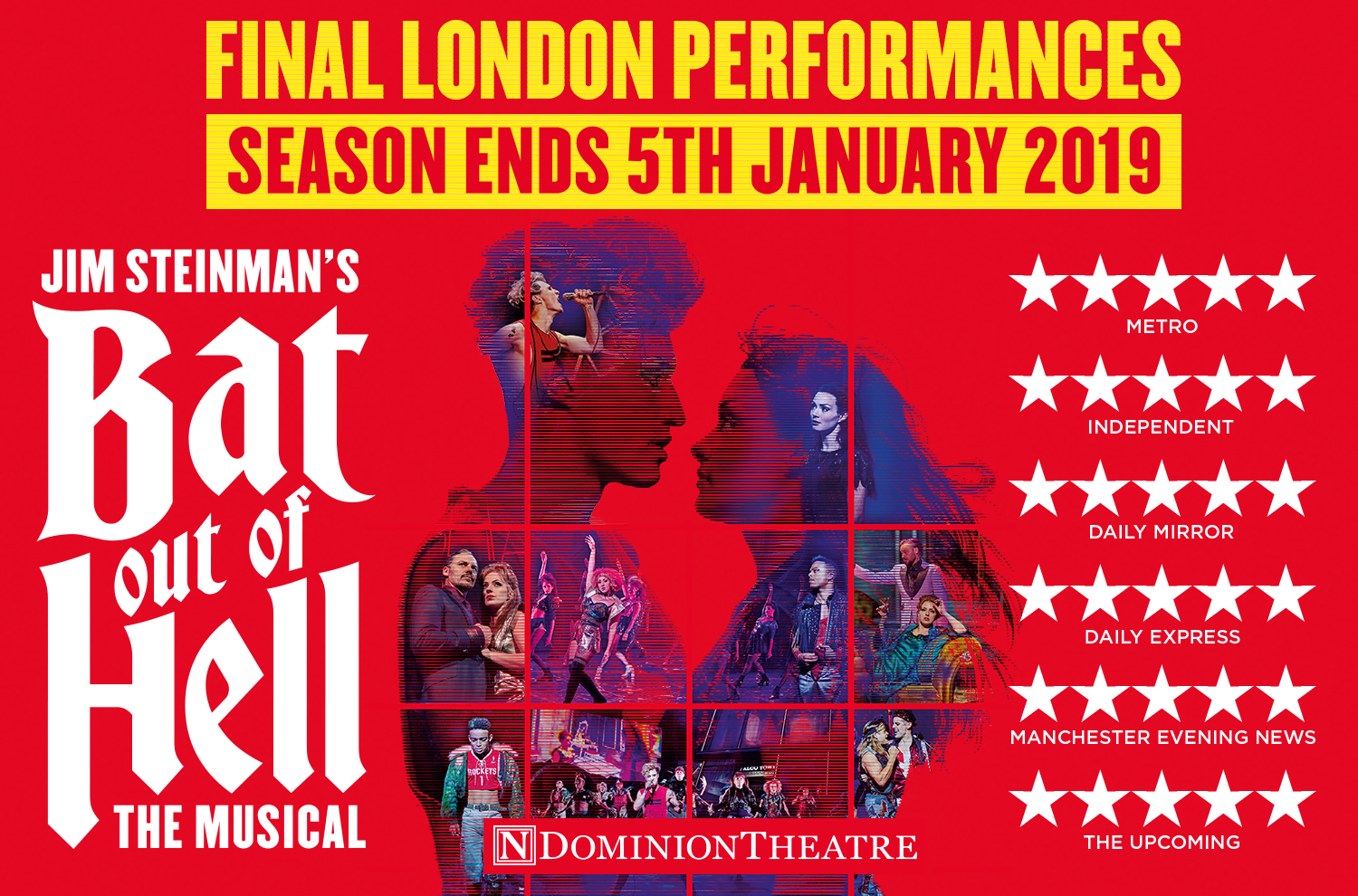 Jim Steinman's Bat Out Of Hell The Musical at the Dominion Theatre, London until 5th January 2019