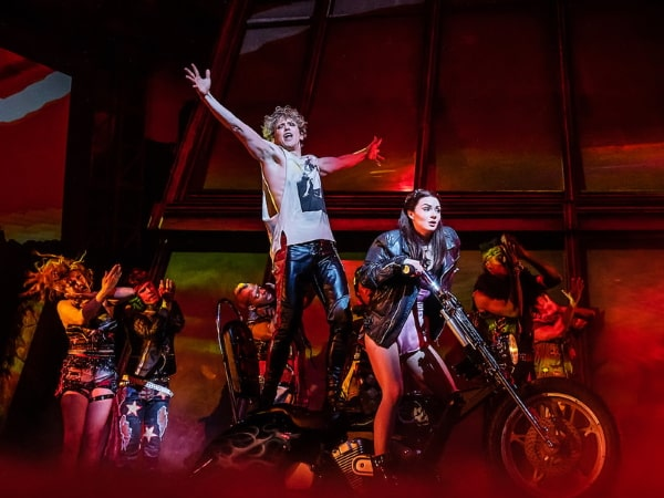 Andrew Polec as Strat, Bat Out Of Hell The Musical, NYC 2019