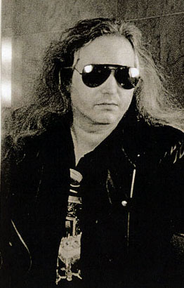 Monochrome photo of Jim Steinman