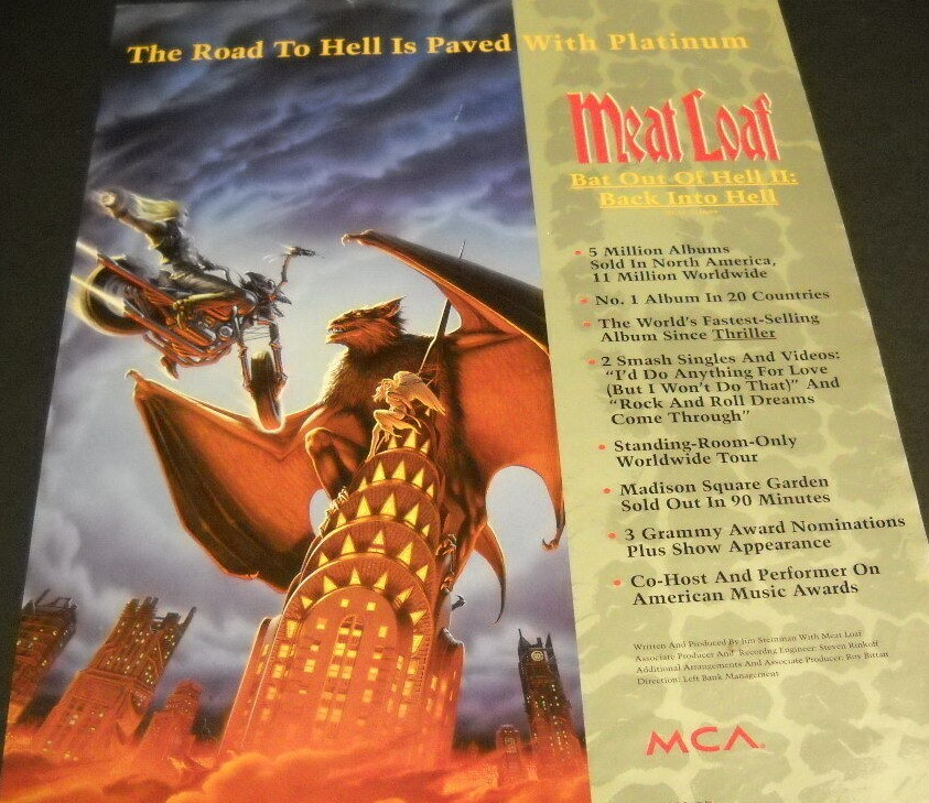 Bat Out Of Hell II - platinum record
