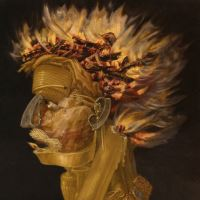 detail from Fire by Giuseppe Arcimboldo