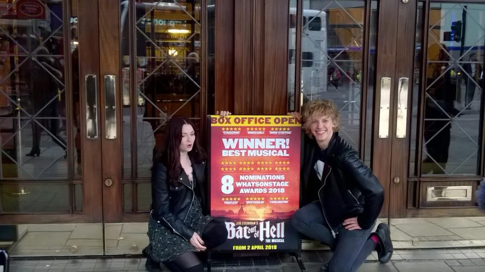Andrew Polec and Christina Bennington at the Dominion Theatre in London