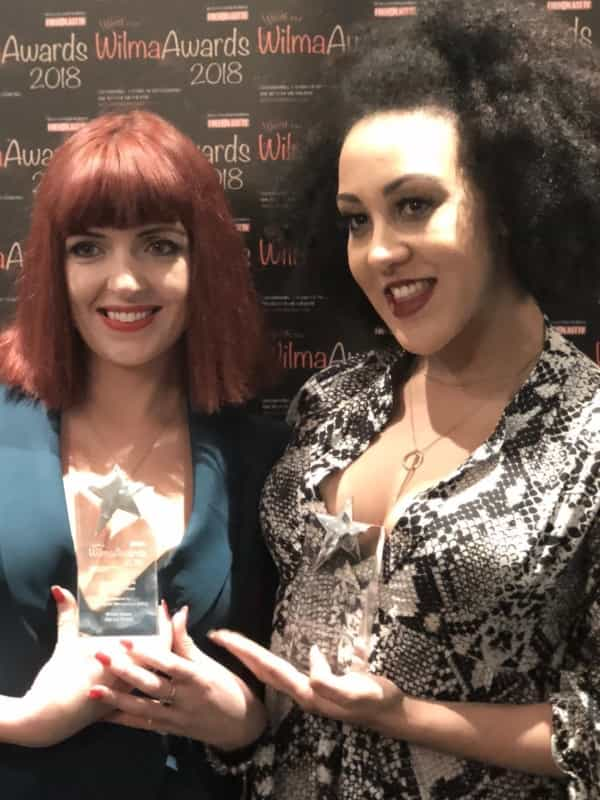 Sharon Sexton (left) and Danielle Steers (right) holding their awards