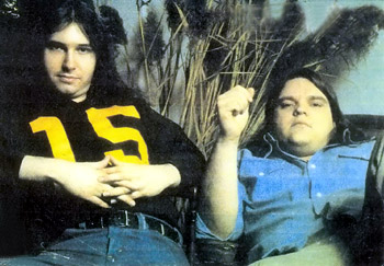 Jim Steinman and Meat Loaf, colour photo 1978